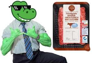 Pumpermarkt [39/21]: z.B. 400g Fettreduziertes Rinderhackfleisch für 2,49€ (6,23€/kg) bei Aldi Nord