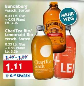 [HOL AB] ChariTea Eistee und LemonAid Limonade für 1,11 + Pfand