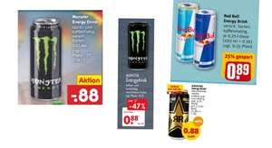 Energy Drink Angebote vom 27.09 - 2.10 z.B. Crazy Wolf Energy 500ml für 0.39€