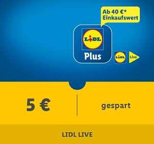 [Lidl Plus] 5€ Rabatt ab 40€ Mindesteinkaufswert