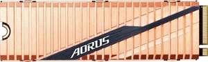 Gigabyte Aorus 1TB NVMe M.2 PCIe 4.0 SSD mit Kühlkörper (R5000/W4400, 3D TLC, 1GB DRAM, 1.8PB TBW, AES, 5 Jahre Garantie)