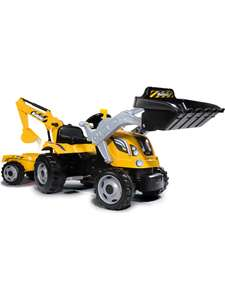Smoby, Traktor Builder Max, Trettraktor mit Anhänger, Kinderfahrzeug, Tretfahrzeug