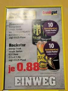 Rockstar, Monster oder Reign Energy plus 10 Deutschlandcard-Punkte