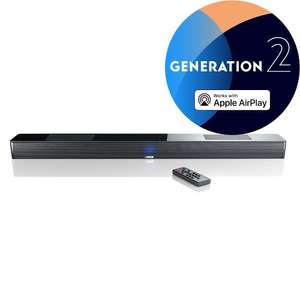 Canton Smart Soundbar 10 2. Generation schwarz (Multiroom Soundbar mit Dolby Atmos, Airplay, eARC)