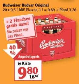 [Globus] Kasten Budweiser Budvar Original + 2 Flaschen gratis (lokal Leipzig)