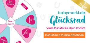 [3 Tage lang!] Kostenlos Guthaben/babypoints sammeln beim babymarkt.de Glücksrad