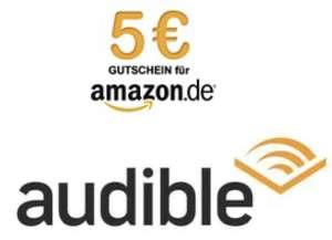 Gratis 30 Tage (mit Prime 60 Tage) Audible testen + 5€ Amazon Gutschein erhalten! (Audible Neukunden)