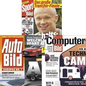 ComputerBILD, SportBILD und AutoBILD Abo für 6 Monate gratis - Kündigung notwendig