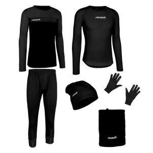 Reusch Trainingsset 6-teilig (Pullover, Hose, Funktionsshirt, Handschuhe, Mütze, Halswärmer)