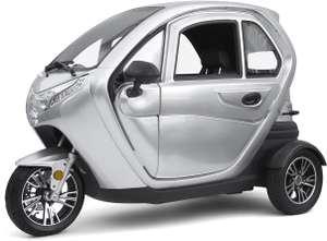 eLizzy, Didi Thurau Edition, 25 km/h, silber, Elektro-Dreirad, E-Kabinenfahrzeug, Kabinenroller