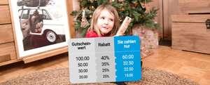 Bis zu 40% Rabatt auf Geschenkgutscheine von smartphoto - z.B. Gutschein im Wert von 100€ für 60€