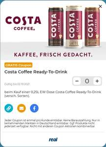 [Freebie] Costa Coffee - Ready to Drink - Gratis bei real durch Couponplatz-Gutschein