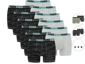12x PUMA Boxershorts (Verschiedene Farbvarianten verfügbar, 4.66€ pro Stück, Größe S - XL)