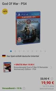 Alza - God of War (PS4) + God of War III Remastered Playstation eff. 25,39€