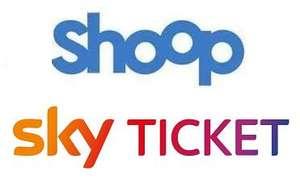[effektiv 20€ Gewinn] Shoop & Sky Ticket 3 Monate Entertainment + Cinema für 29,99€ + 50€ Cashback (jederzeit kündbar | für Neukunden)