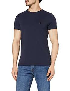 [Amazon] Tommy Hilfiger Herren T-Shirt Cotton Stretch blau/navy in S-3XL