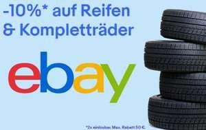 [eBay] -10% Rabatt auf Reifen und Kompletträder bestimmter Verkäufer