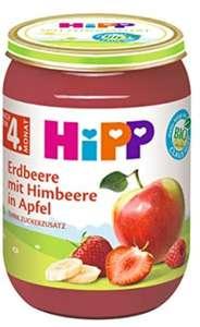 5x HiPP Früchte Erdbeere mit Himbeere in Apfel, 6er Pack (6 x 190 g)