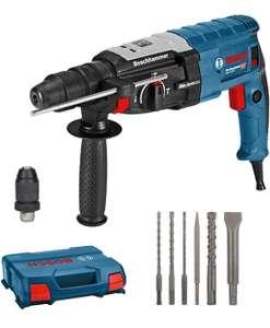 Bosch Professional Bohrhammer GBH 2-28 F, 880 Watt, Bohr-Ø Beton max: 28 mm, inkl.6tlg Bohr-Meißel-Set, SDS-plus, in L-Case (Prime)