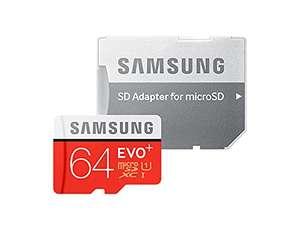 [Amazon Prime   MM & Saturn Abholung] Samsung EVO Plus 2020 R100/W20 microSDXC 64GB Kit, UHS-I U1, Class 10