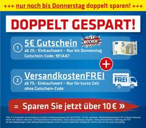 Pollin 5 Euro Gutschein ab 29€ mit Code: 9E1AA7 und Versandkostenfrei ab 79€ bis 30.09