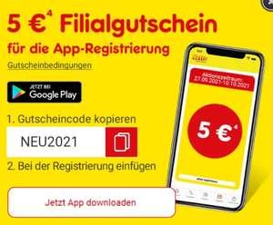 Netto App: 5 Euro Filial-Gutschein (bis 24.10. gültig) ab 30 Euro für jede Neuregistrierung bis 10.10.