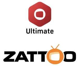 2 Monate Zattoo Ultimate gratis (statt 13,99€/Monat)