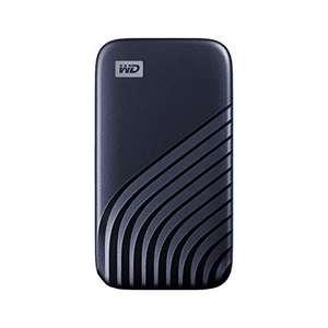 WD My Passport SSD 1 TB SSD Portable (NVMe, USB-C und USB 3.2 Gen-2 kompatibel, Lesen 1050 MB/s, Schreiben 1000 MB/s) für 99,90€ (Amazon)
