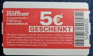 (Lokal Neuss) Höffner 5€ geschenkt, Mindesteinkauf 10€