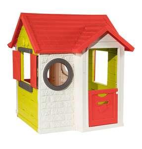 Smoby Spielhaus: Mein Haus (empfohlen ab 2 Jahren, Produktmaße (LxBxH): 120 x 115 x 135 cm)