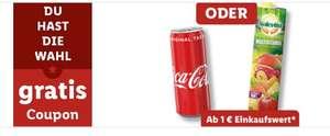 [LIDL Plus] Gratis Getränk (Coca Cola, Cola Zero, Fanta, Mezzo Mix [0,33L] oder 1L Solevita Multivitaminsaft) bei 35€ Einkaufswert