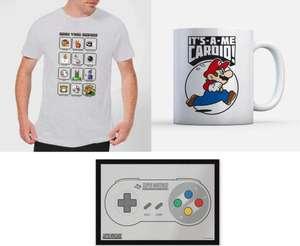 Nintendo Super Mario Bundle: T-Shirt (Gr. S - XXL + Kindergrößen), Tasse und Fußmatte für 24€ inklusive Versand