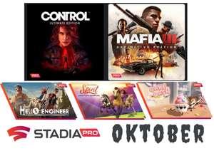 [Stadia Pro] kostenlos neu freischaltbare Oktober Spiele: Mafia III, Control, Hello Engeneer, Cake Bash und DreamWorks Spirit Luckys...