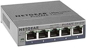 Netgear GS105E Managed Switch 5 Port Gigabit Ethernet LAN Switch Plus (Netzwerk Switch Managed, IGMP, QoS, VLAN, lüfterlos,