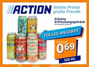 AriZona 500ml-Dose vers. Getränke wie Eistee, Saftmix, … (1,38€/Liter)