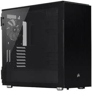 Corsair PC-Gehäuse Carbide 678C (Inkl. 3x 140-mm-Lüfter, Glas-Seitenfenster, Gedämmt, Staubfilter)