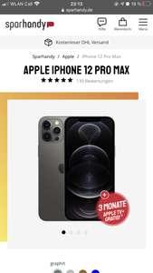 iPhone 12 Pro Max 128GB - Vodafone 70 GB LTE/5G bis 500mbits 64.99€ Mtl. Zzl. 49€ einm.
