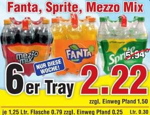 [WIGLO] Fanta / Mezzo Mix / Sprite 6x1,25-L für 2,22€ (=0,37€/Flasche // 0,30€/Liter) [Niedersachsen/Sachsen-Anhalt]