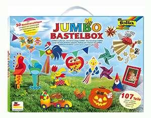 Folia Jumbo Bastelkoffer mit 107 Teilen, riesige Auswahl an Bastelmaterialien für 7,99€ (Amazon Prime)