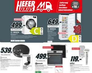 Lieferluxus bei allen TV- & Haushaltsgroßgeräten ab 299€ für 19€ | z.B. Bosch WAU 28 SIDOS Waschmaschine (9kg, 1400 U/Min.) für 489€
