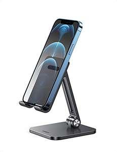[Prime] Ugreen Aluminium-Handyhalterung für 9,99€ (von 4,0 bis 7,2 Zoll, verstellbare Winkeleinstellung mit Doppel-Scharnieren, Silikonpads)