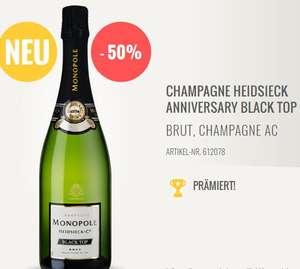 1 Flasche CHAMPAGNE HEIDSIECK ANNIVERSARY BLACK TOP, 5 Stück 104,50 Euro