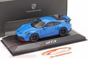 PORSCHE 911 GT3 Baujahr 2021 shark blue Modellauto