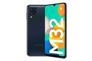 [Amazon] Samsung Galaxy M32 Android Smartphone ohne Vertrag, 6,4-Zoll -Infinity-U-Display, starker 5.000 mAh Akku, 128 GB/6 GB RAM, 3 Farben