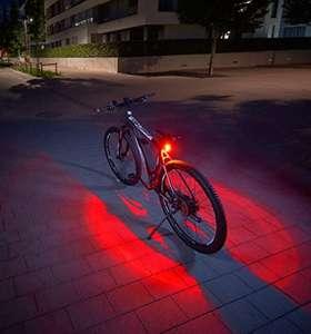[Amazon Prime] FISCHER Twin Fahrrad-Rücklicht mit 360° Bodenleuchte