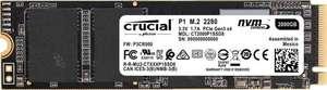 Crucial P1 SSD 2TB (M.2, PCIe 3.0, 3D-NAND QLC, R2000/W1750, 2GB Cache, 400TBW / 5J Garantie)