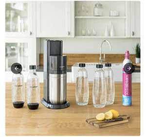 SodaStream Duo mit Zylinder, 3 Glasflaschen, 2 PET-Flaschen