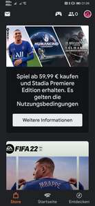 [Stadia] Beliebiges Spiel für mind. 59,99€ kaufen und Stadia Premiere Edition kostenlos dazu bekommen