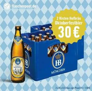 [Flaschenpost] 2 Kästen Hofbräu Oktoberfestbier für 30 € inkl. Lieferung, zzgl. Pfand