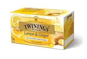 [Prime][3er Pack] Twinings of London Lemon & Ginger, 25 Beutel x 1,5g, 37,5g, (3x38g) = 75 Teebeutel